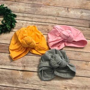Other - Lot e toddler girls turban beanies hats